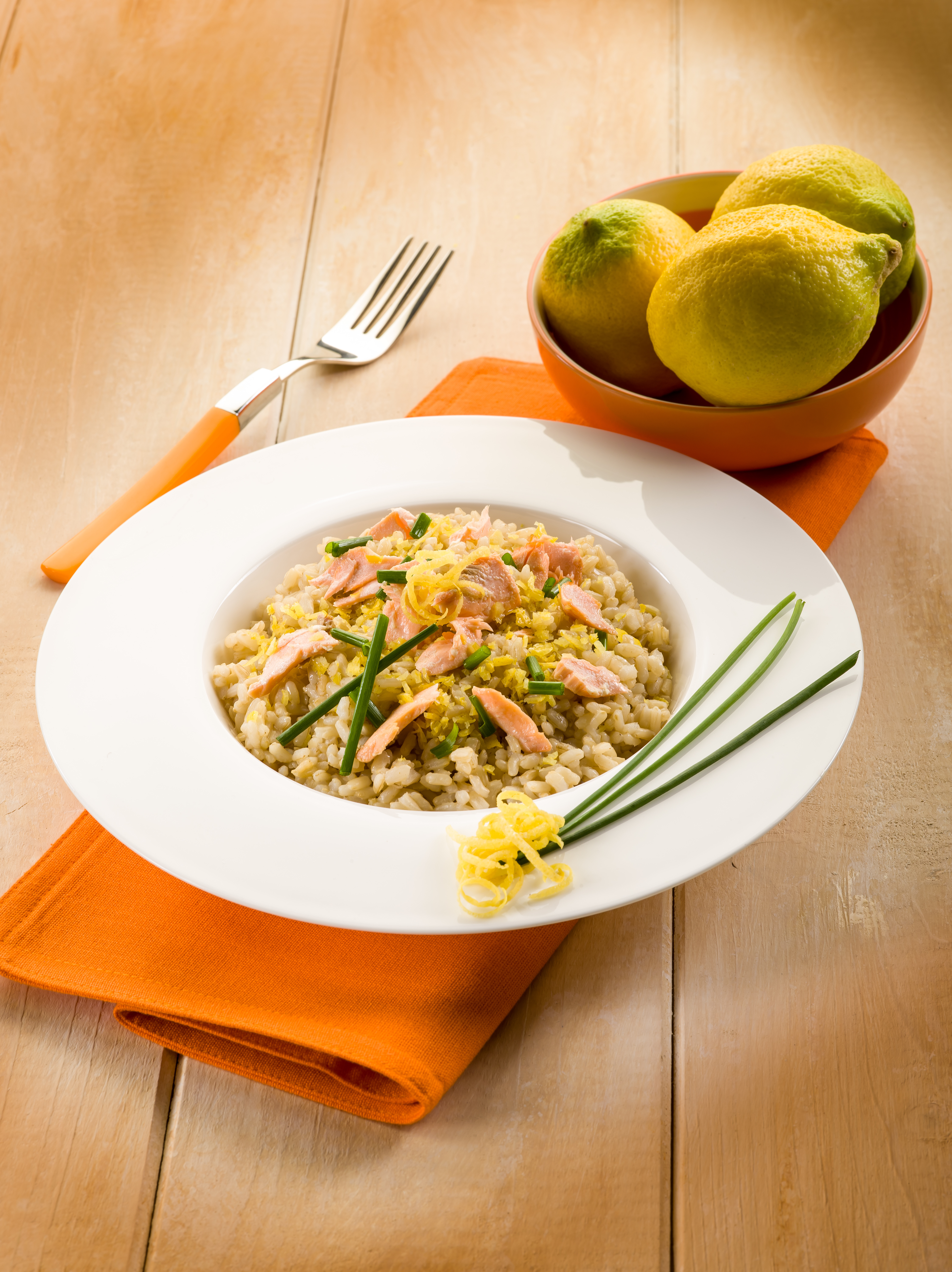 Risotto with Salmon and Lemon